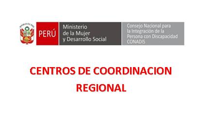 Centros de Coordinación Regional del CONADIS