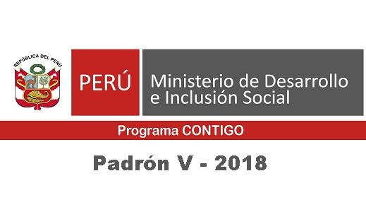 Programa Contigo – Padrón V-2018