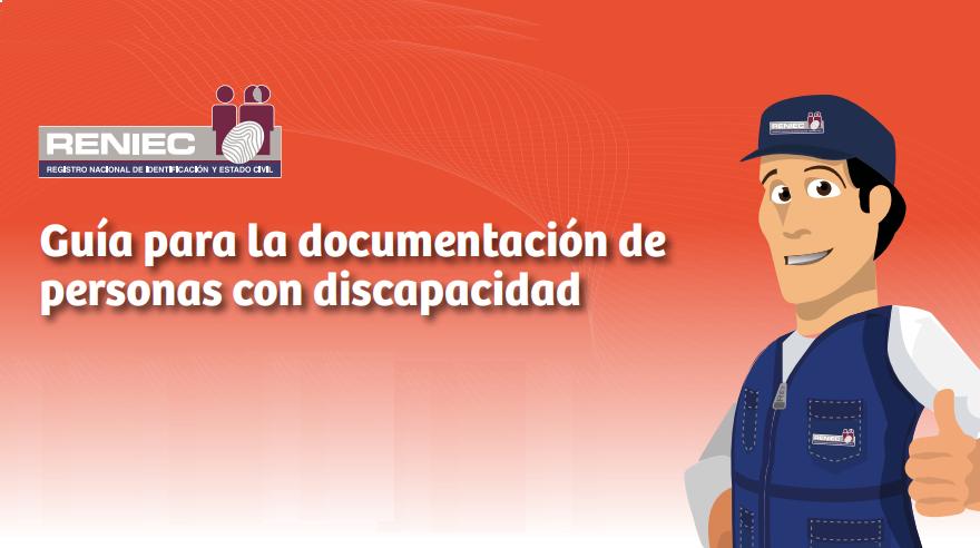 RENIEC: Guía para la documentación de personas con discapacidad