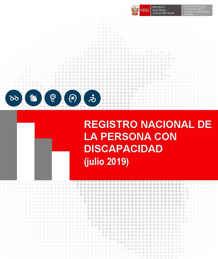 Inscripciones en el Registro Nacional de la Persona con Discapacidad (Julio 2019)