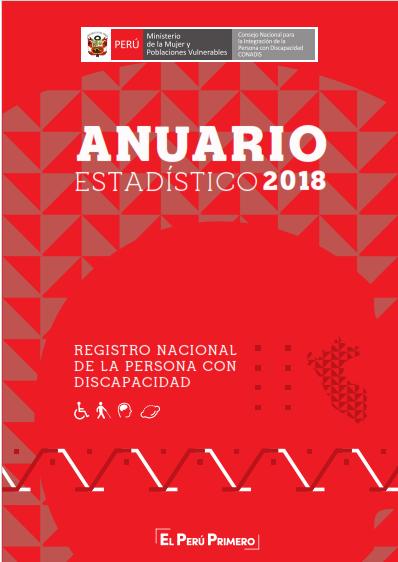 Anuario Estadístico 2018 del Registro Nacional de la Persona con Discapacidad