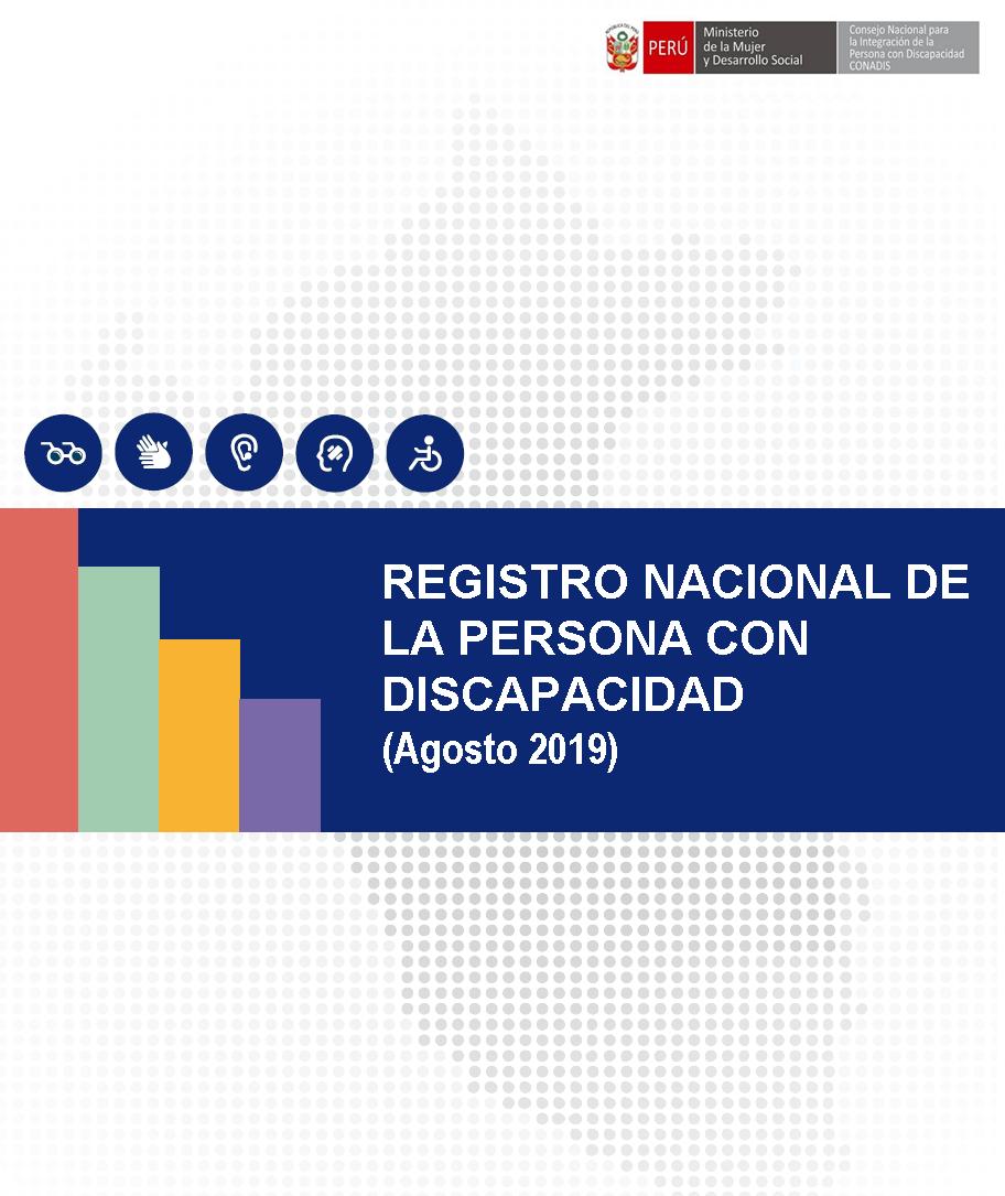 Inscripciones en el Registro Nacional de la Persona con Discapacidad (Agosto 2019)