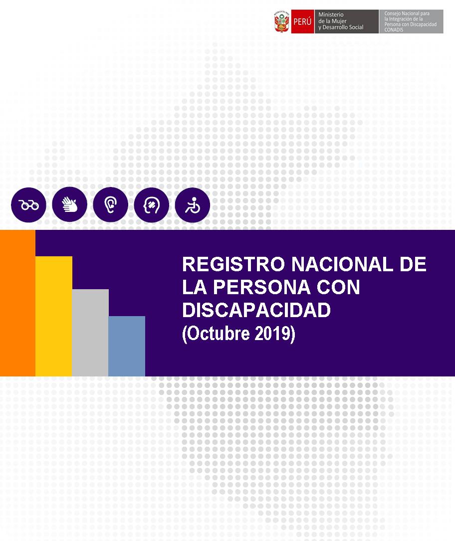 Inscripciones en el Registro Nacional de la Persona con Discapacidad (Octubre 2019)