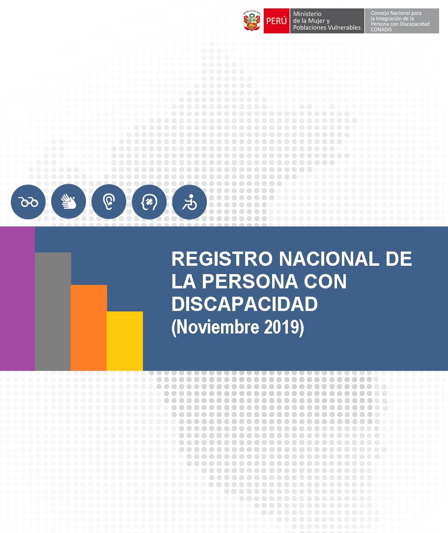 Inscripciones en el Registro Nacional de la Persona con Discapacidad (Noviembre 2019)