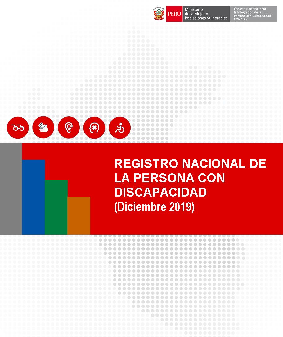 Inscripciones en el Registro Nacional de la Persona con Discapacidad (Diciembre 2019)