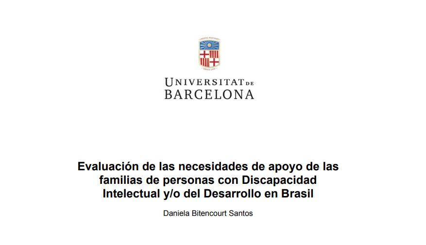 Evaluación de las necesidades de apoyo de las familias de personas con Discapacidad Intelectual y/o del Desarrollo en Brasil
