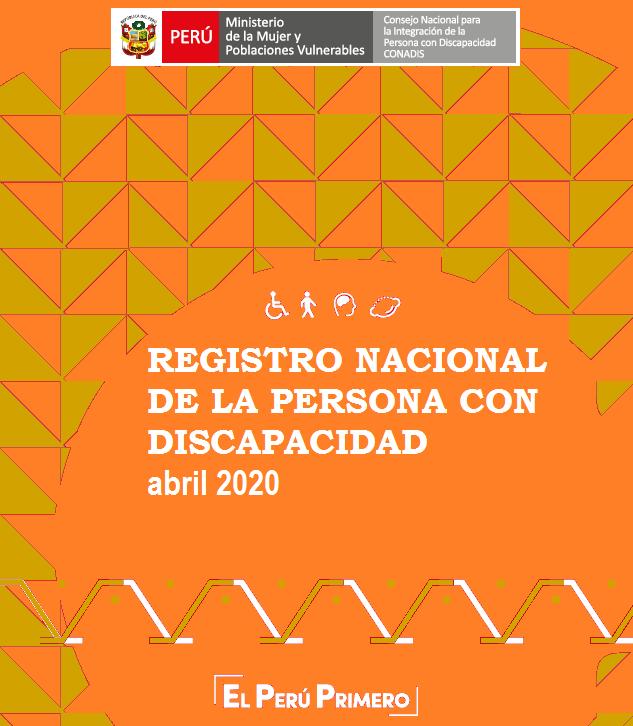 Inscripciones en el Registro Nacional de la Persona con Discapacidad (Abril 2020)