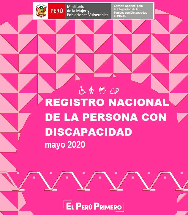 Inscripciones en el Registro Nacional de la Persona con Discapacidad (Mayo 2020)