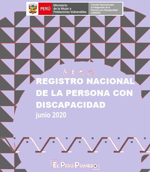 Inscripciones en el Registro Nacional de la Persona con Discapacidad (Junio 2020)
