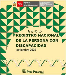 Inscripciones en el Registro Nacional de la Persona con Discapacidad (Setiembre 2020)