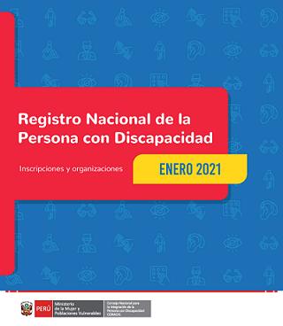 Inscripciones en el Registro Nacional de la Persona con Discapacidad (Enero 2021)