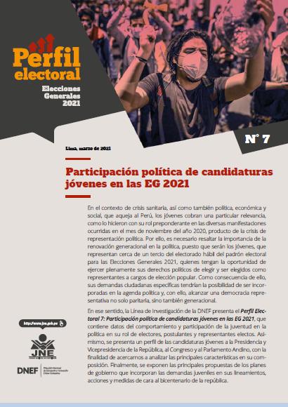 Participación política de candidatos jóvenes en las Elecciones Generales 2021