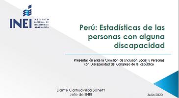 Perú: Estadísticas de las personas con alguna discapacidad