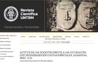 Informe N° D000015-2021-CONADIS-CCRAMA. Actividades desarrolladas en coordinación con la Universidad Nacional Toribio Rodríguez de Mendoza de Amazonas