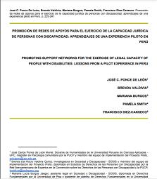 Promoción de redes de apoyos para el ejercicio de la capacidad jurídica de personas con discapacidad: Aprendizajes de una experiencia piloto en Perú