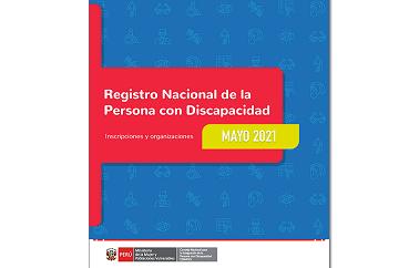 Inscripciones en el Registro Nacional de la Persona con Discapacidad (Mayo 2021)