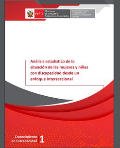 Portada del estudio: Análisis estadístico de la situación de las mujeres y niñas con discapacidad desde un enfoque interseccional