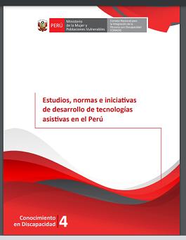 Portada del estudio: Estudios, normas e iniciativas de desarrollo de tecnologías asistivas en el Perú