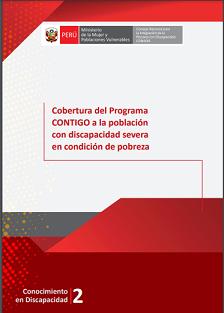 Portada del estudio: Cobertura del Programa CONTIGO a la población con discapacidad severa en condición de pobreza