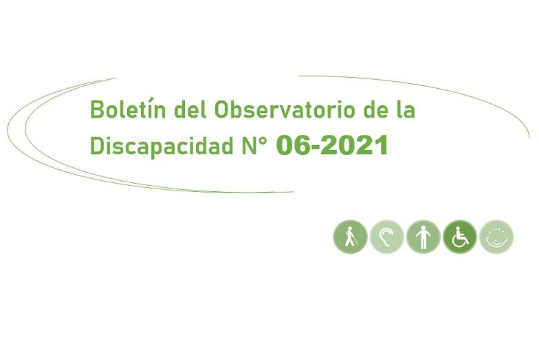 Boletín del Observatorio de la Discapacidad N° 06-2021