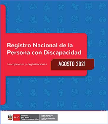 Inscripciones en el Registro Nacional de la Persona con Discapacidad (Agosto 2021)