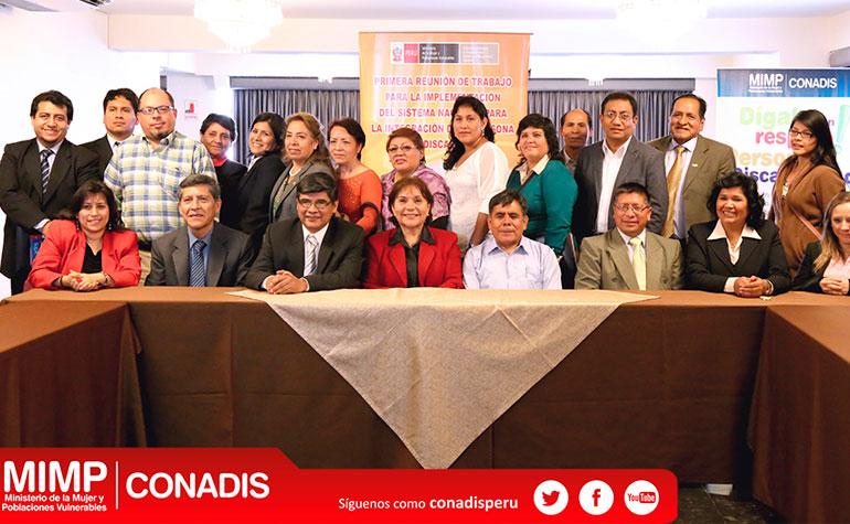 Representantes de gobiernos regionales firmaron acta para implementar sinapedis
