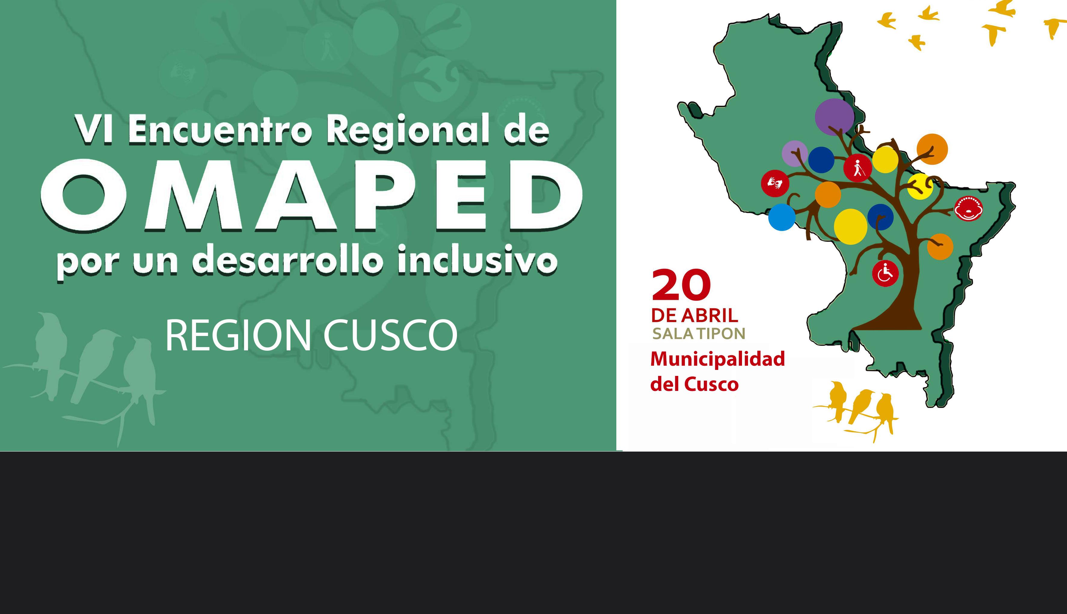 VI Encuentro Regional de Omaped por un Desarrollo Inclusivo en Cusco