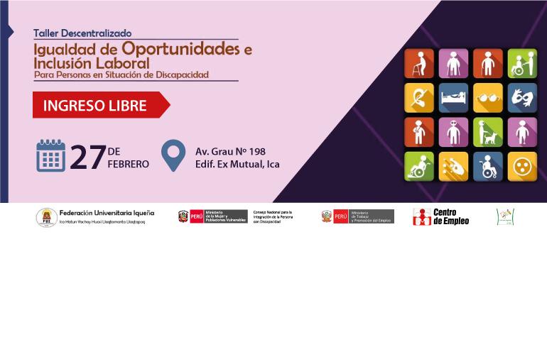 Conadis participará en talleres de Federación Universitaria Iqueña