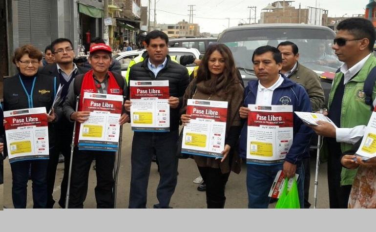 Autoridades participaron en Campaña del Pase Libre