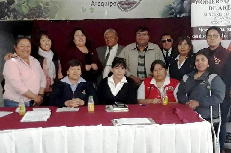 Mesa Regional de Discapacidad de Arequipa realizó reunión de trabajo