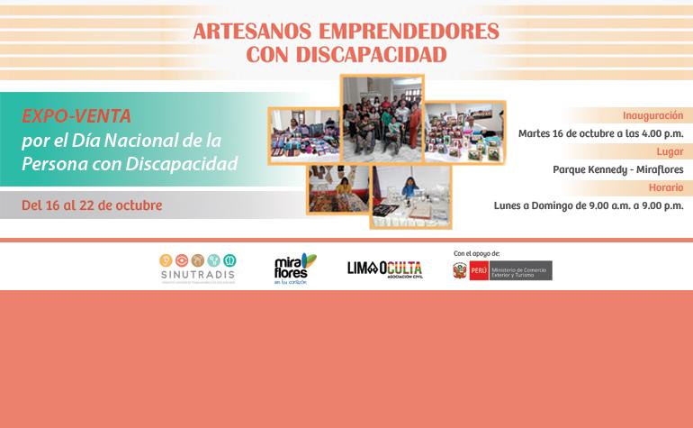 Expo Venta por el Día Nacional de la Persona con Discapacidad