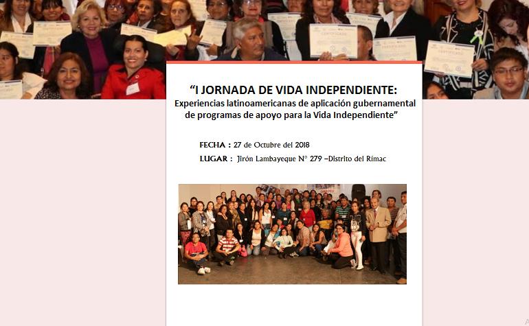 Realizarán I Jornada de Vida Independiente en el Perú