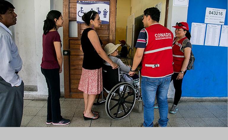 CONADIS supervisó centros de votación para verificar facilidades para las personas con discapacidad
