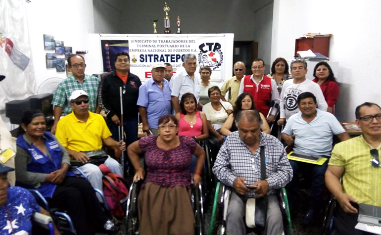 Reunión con asociaciones de personas con discapacidad del Callao