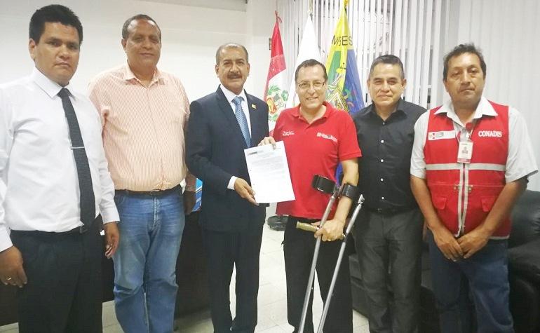 CONADIS y Gobierno Regional de Tumbes ratifican compromisos para las personas con discapacidad