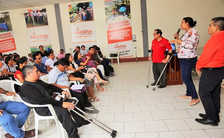 Capacitan a funcionarios regionales y responsables de las OMAPEDs en San Martín