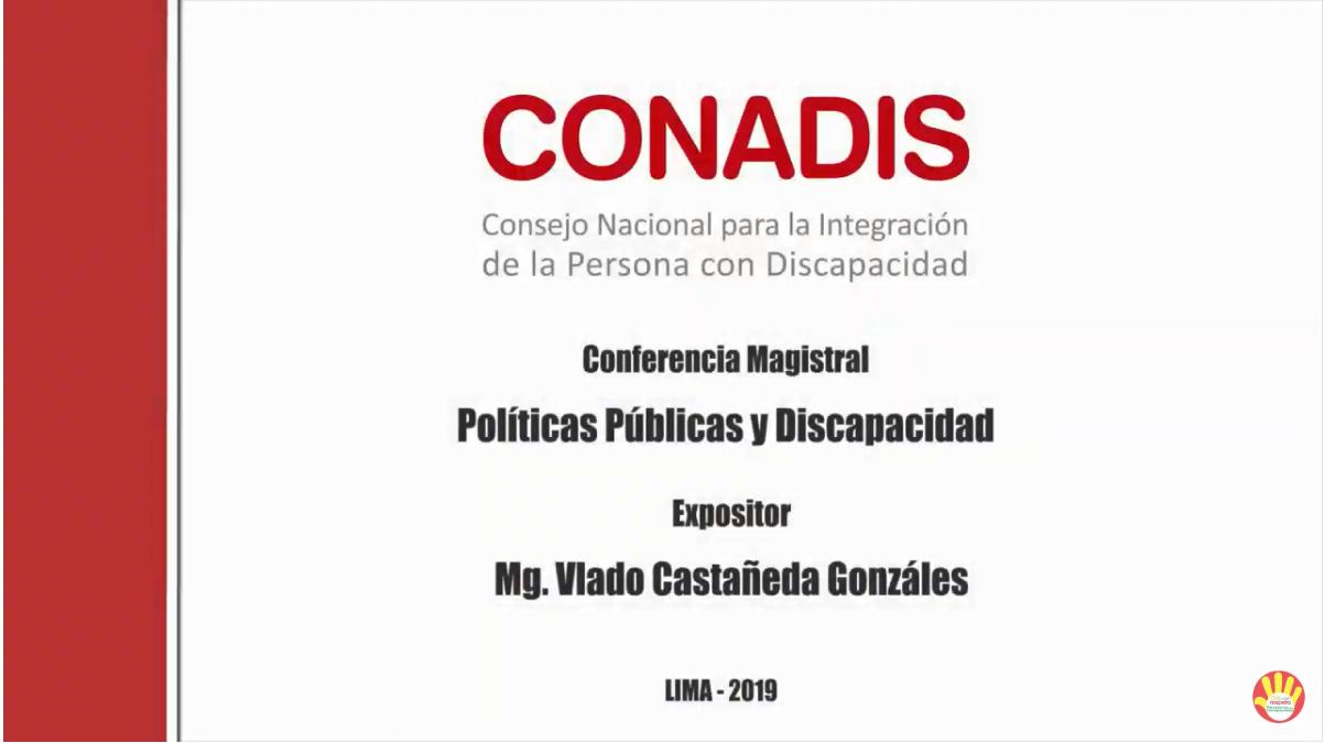Políticas Publicas y Discapacidad Mg. Vlado Castañeda Gonzáles