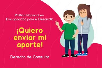 anuncio para enviar aportes a la política nacional en discapacidad